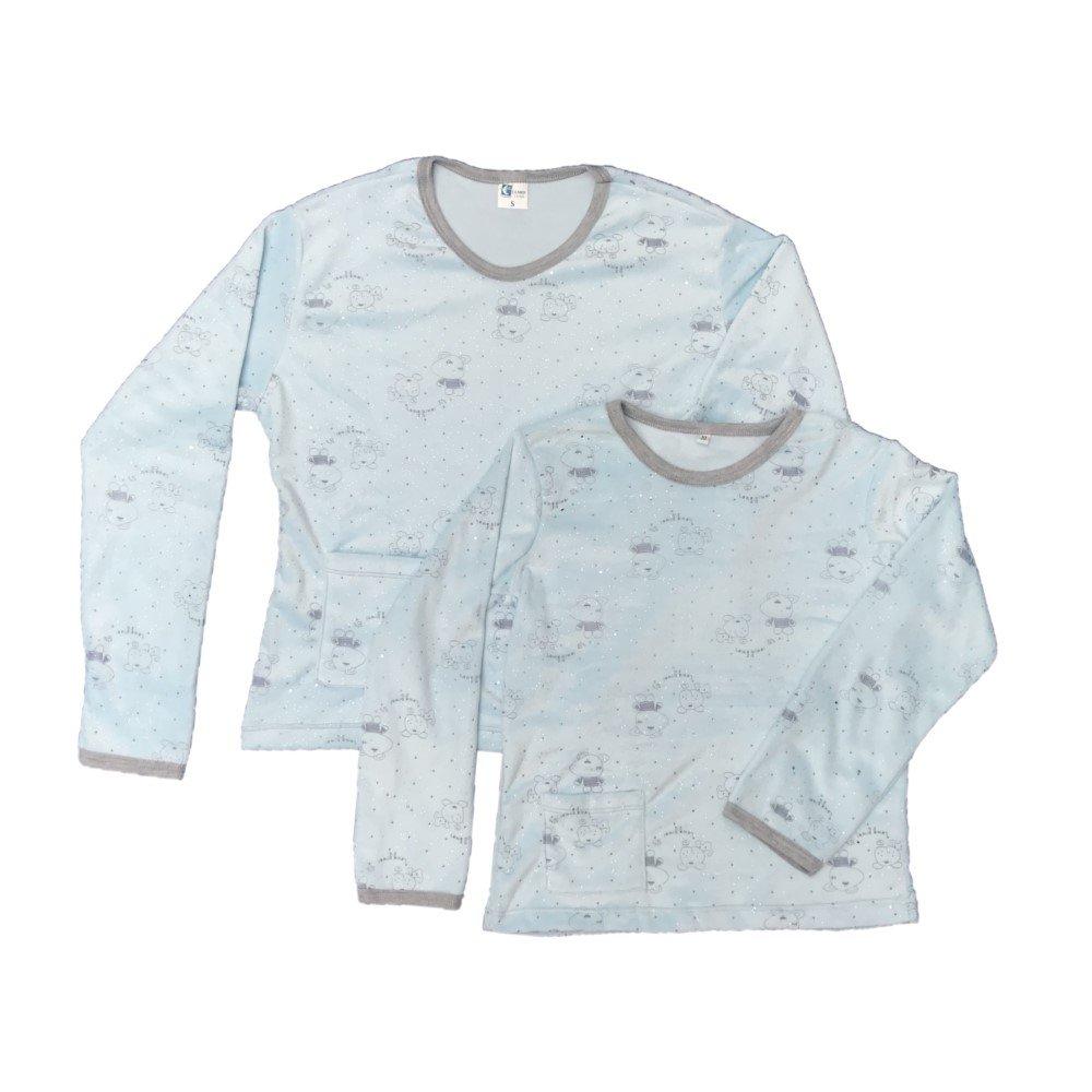 Pijama Familiar térmica azul claro