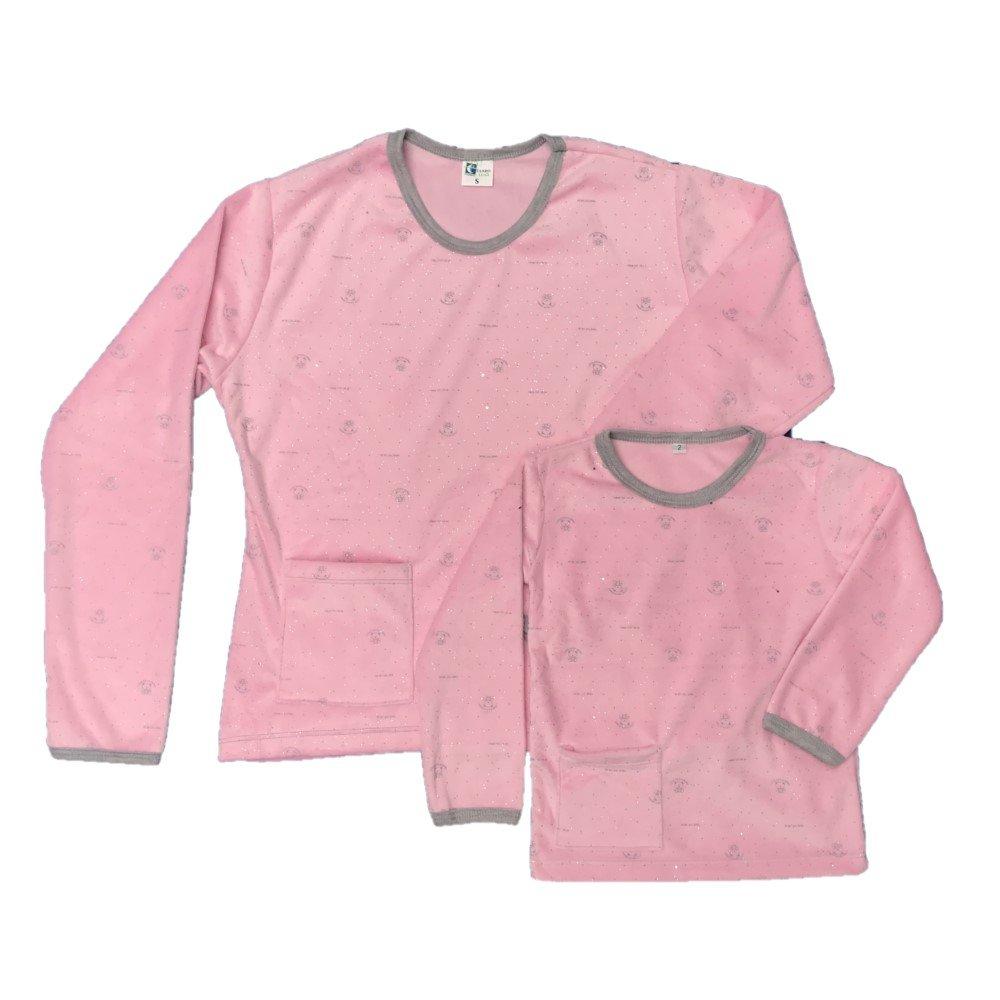 Pijama familiar térmica rosada