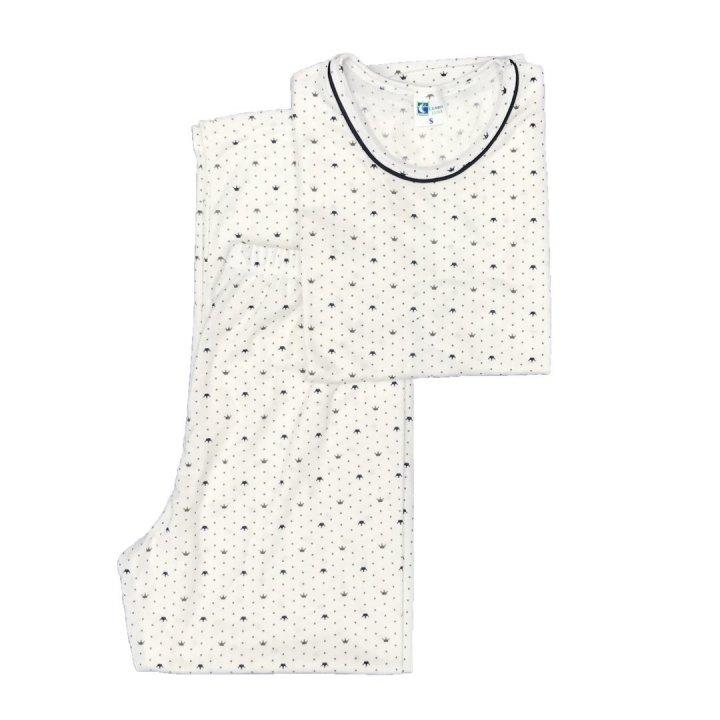 pijama para dama coronas azules