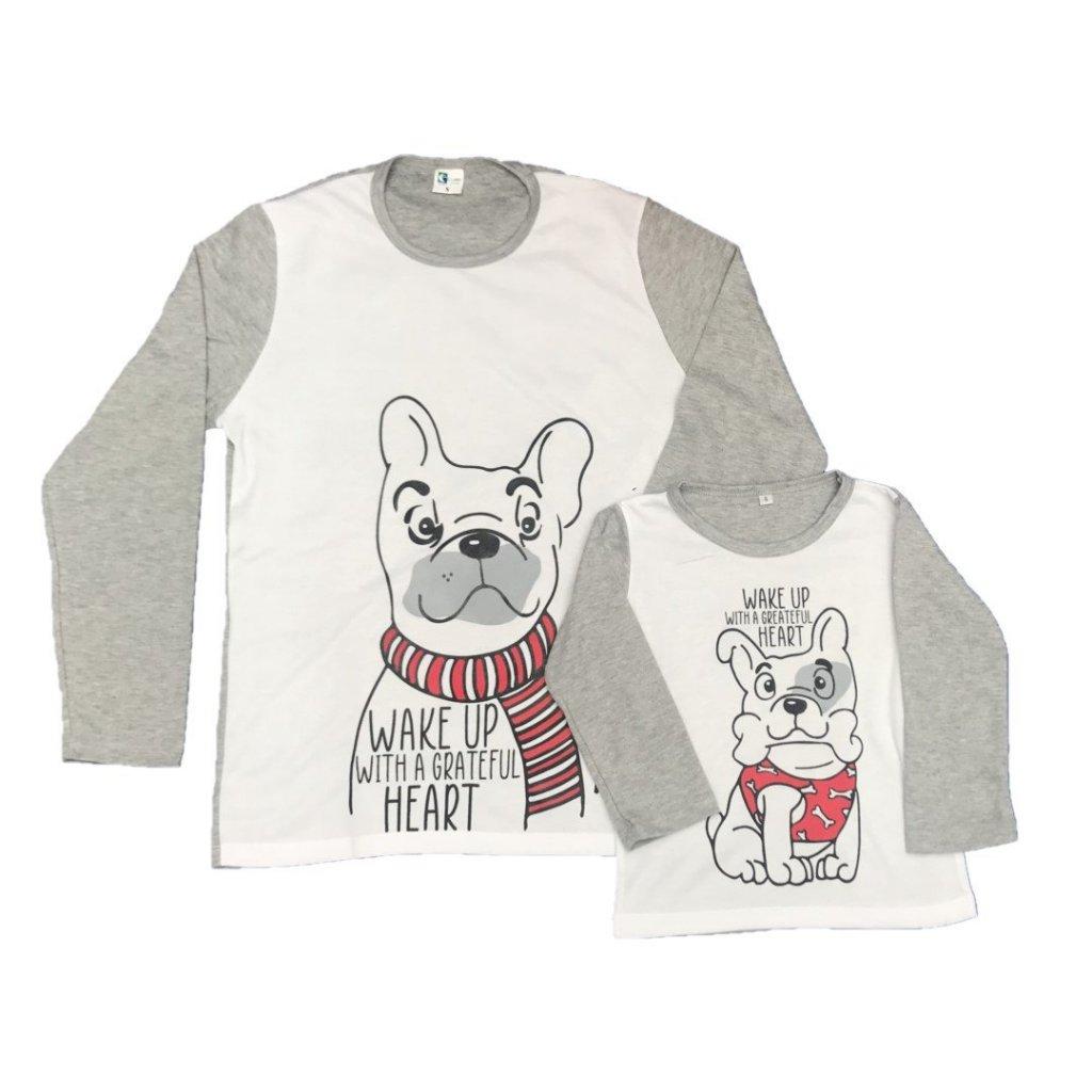 Pijama familiar perros - mamá o papá e hijo