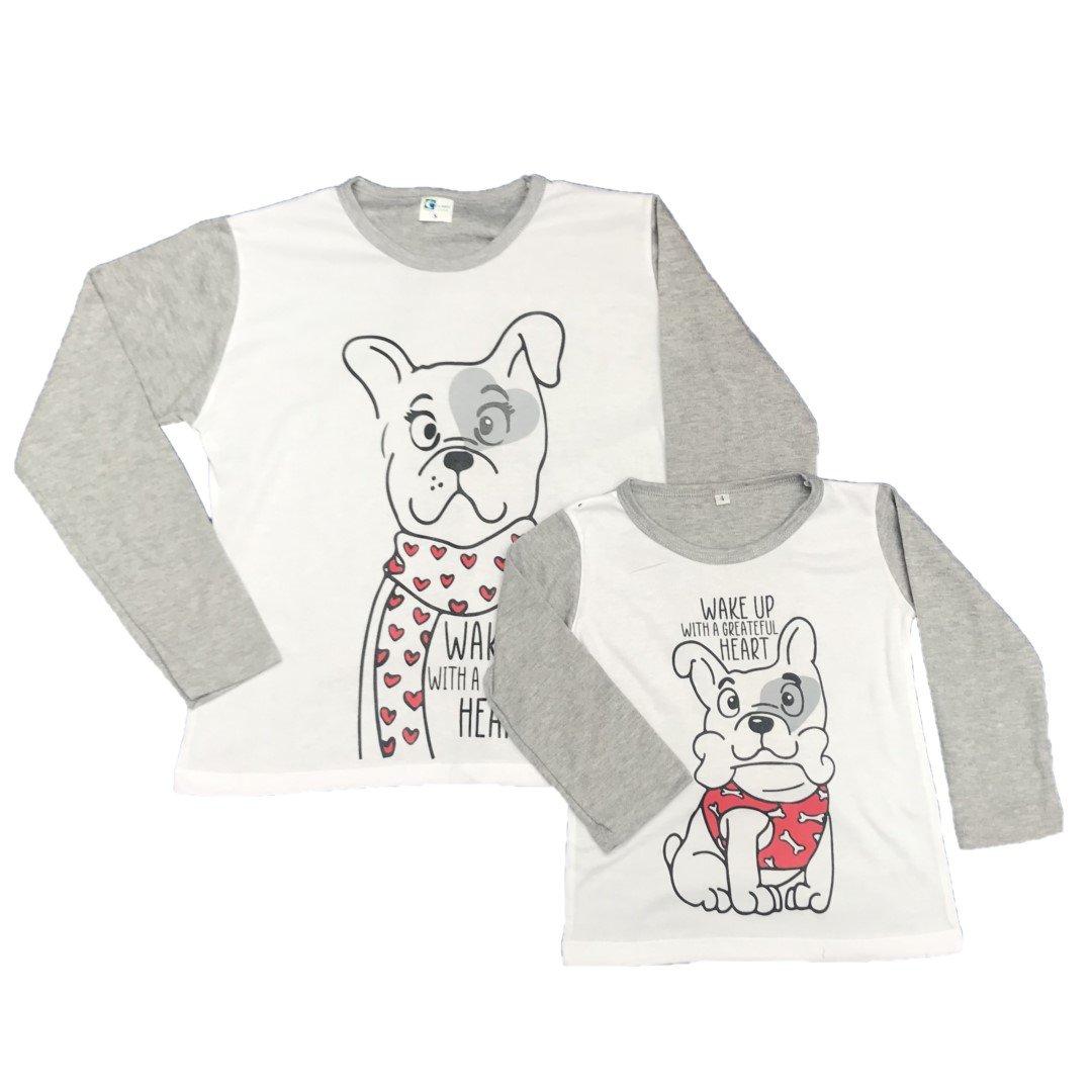 Pijamas familiares perros dama y niños